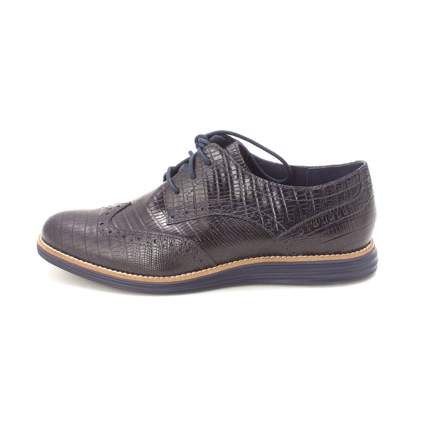 Cole Haan Womens Alicesam Low Top Lace Up Fashion Sneakers - Navy - 6