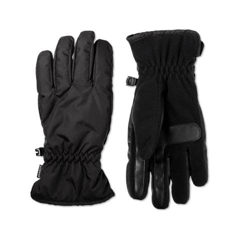 Isotoner Mens Smart Dri Winter Gloves Fleece Lined Touch Screen