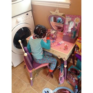 Customer Reviews  sc 1 st  Overstock & Shop Princess Vanity Table and Chair Set - Free Shipping Today ...