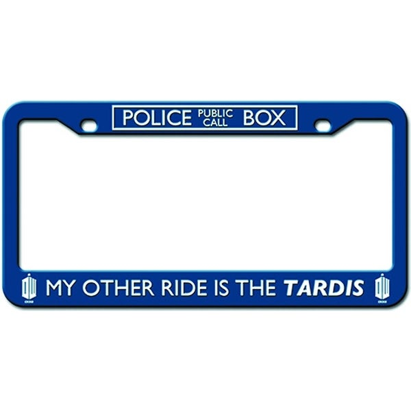"Doctor Who Licence Plate Frame ""My Other Ride Is The Tardis"" - multi"