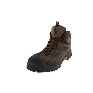 Wolverine Mens Hudson Work Boots Leather Steel Toe - 10.5 extra wide (e+, ww)