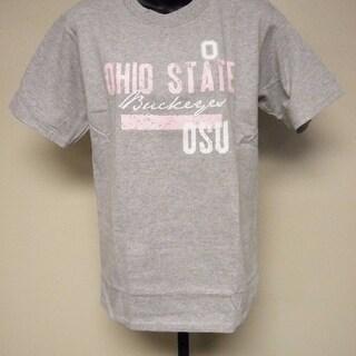 Ohio State Buckeyes Unisex Adult Size Xl Xlarge Gray Pink Shirt