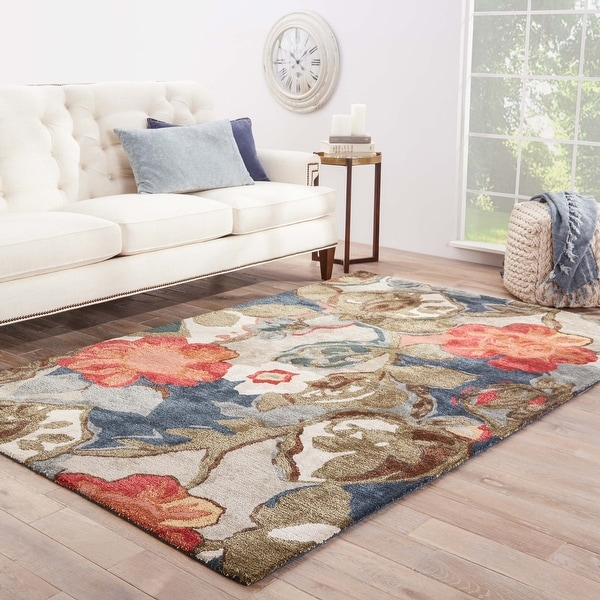 Clemente Handmade Floral Area Rug. Opens flyout.