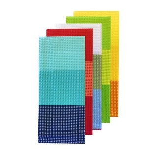 Celebrate Summer Together Kitchen Towels 5 Pack (16.5x26 In) - blue/red/white/green/yellow