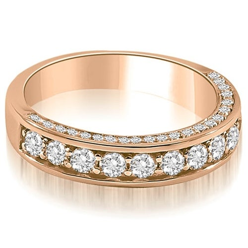 0.43 cttw. 14K Rose Gold Classic Round Cut Diamond Wedding Band