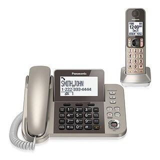 Panasonic KX-TGF350N 2 Handset Corded / Cordless Phone W/ Night Mode Brand New