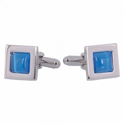 Steel Blue Square Cufflinks