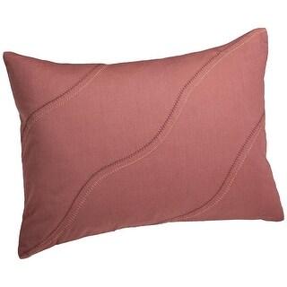 Calvin Klein Home Melrose Cotton Curve Stitch Throw Pillow