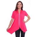 Simply Ravishing Women's Basic Short Sleeve Open Cardigan (Size: Small-5X) - Thumbnail 2