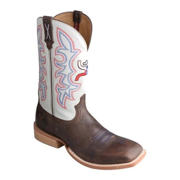 7bf89331633 Shop Twisted X Boots Men's MHY0011 Hooey Brown/White - Free Shipping ...