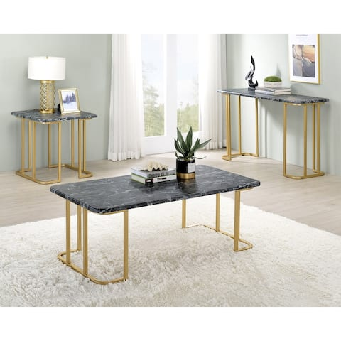 Furniture of America Deeanne Contemporary 3-Piece Coffee Table Set