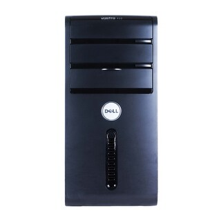 Dell Vostro 400 Computer Tower Intel Core 2 Duo E7600 3.06G 4GB DDR2 160G Windows 7 Home 1 Year Warranty (Refurbished) - Black