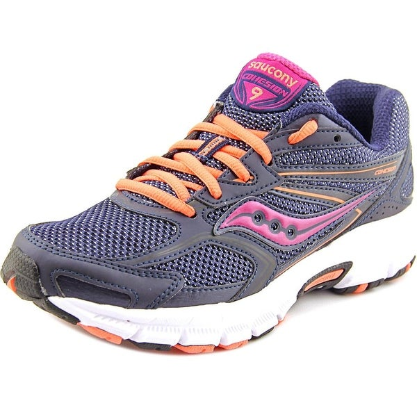 Saucony Cohesion 9 Women Round Toe Synthetic Blue Sneakers
