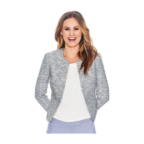 Anne Klein Womens Collarless Blazer Jacket