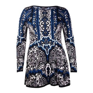Style & Co. Women's Printed Long Tunic Sweater