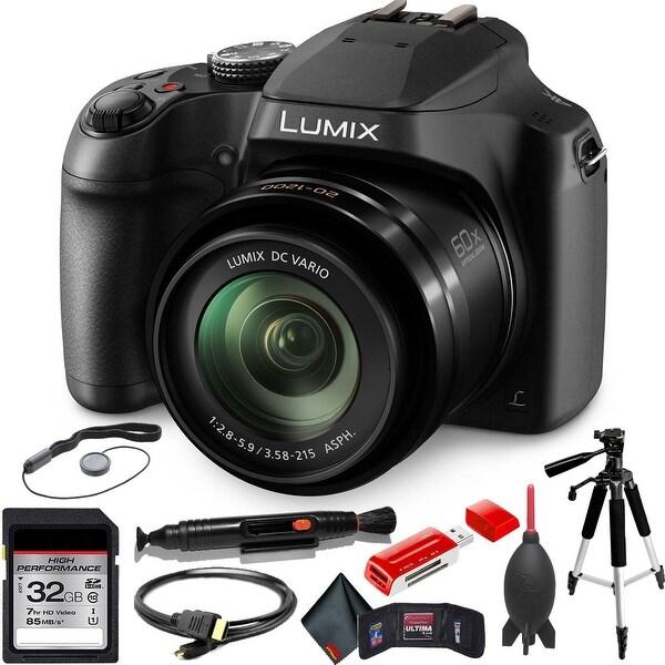 Panasonic Lumix DC-FZ80 Digital Camera with Advanced Accessory Kit