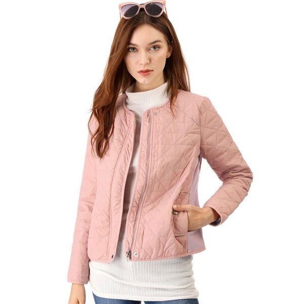 Women's Zip up Ribbed Lightweight Gilet Quilted Jacket