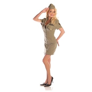 Fly Girl Air Force Adult Costume Mini Dress With Hat