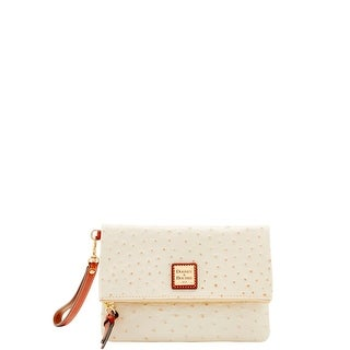 Dooney & Bourke Ostrich Embossed Leather Foldover Wallet (Introduced by Dooney & Bourke at $118 in May 2017)