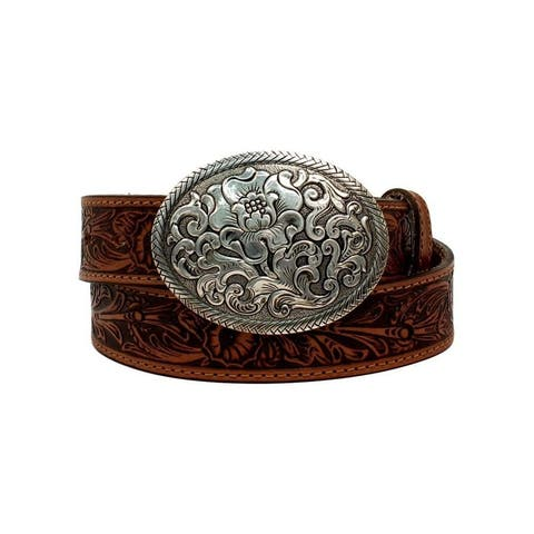 Nocona Western Belt Womens Oval Buckle Belle Forche Laced