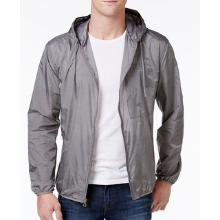Weatherproof NEW Gray Mens Size 2XL Windbreaker Hooded Full-Zip Jacket