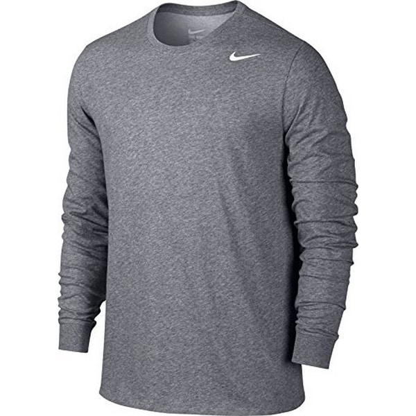 new style 866c3 ab181 Shop Nike Mens Dry Tee Dfc Ls 2.0, Carbon HeatherCarbon HeatherWhite, 2Xl  - Free Shipping On Orders Over 45 - Overstock.com - 19516878