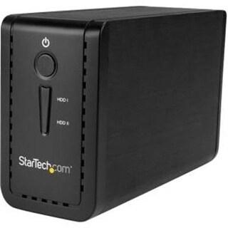 "Startech S352bu313r 3.5"" External Dual Hard Drive Enclosure  Raid  Usb-C And Usb-A  Sata 6Gbps  2 Bay Usb 3.1 Ss"