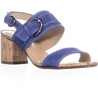 Naturalizer Camden Ankle Strap Block Heel Sandals, Deep Sapphire