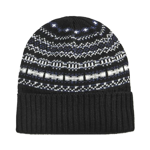 Club Room Mens Isle Knit Beanie Hat - One Size