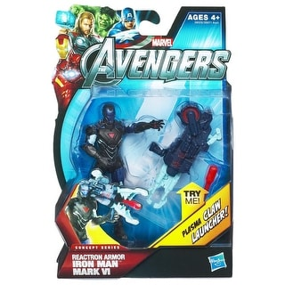 "Marvel Avengers Concept Series 3.75"" Action Figure: Reactron Armor Iron Man"