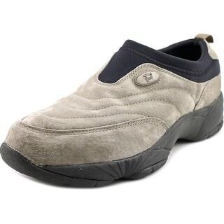 Propet Wash & Wear Slip On Men 5E Round Toe Leather Gray Loafer