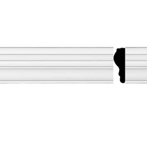 "Chair Rail White Urethane Molding 97"" X 1 3/4"" Renovator's Supply"
