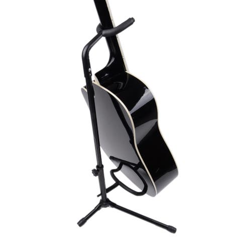 A-Shaped/Single Vertical Electric Guitar Stand Black