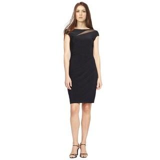 Lauren Ralph Lauren Mesh Inset  Jersey Cap Sleeve Dress - 10
