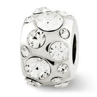 Sterling Silver Reflections April Swarovski Elements Bead (4mm Diameter Hole)