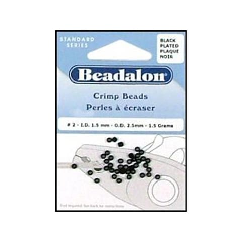 Beadalon Crimp Bead 2.5mm Black 1.5gm