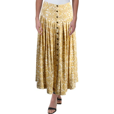 Free People Womens Lovers Dream Midi Skirt Pleated Midi