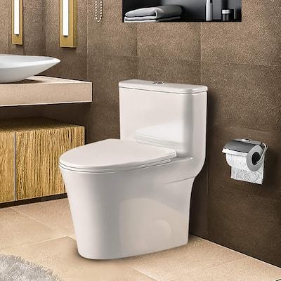 Fine Fixtures Modern One Piece Round Toilet