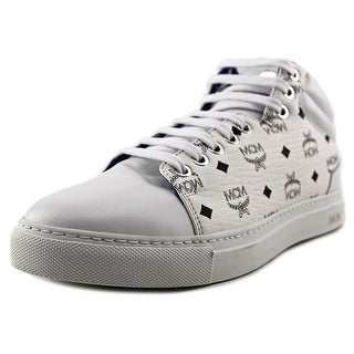 MCM Viestos Low Top Youth Round Toe Synthetic White Sneakers
