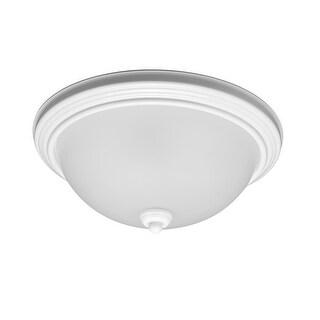 Sea Gull Lighting 79364BLE-15 Ceiling Flush Mount Round 2-Light CFL White - White Finish