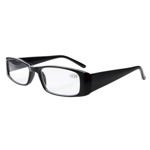 e04d7a4babc8 Shop Eyekepper Spring Hinges Rectangular Reading Glasses Readers Black +2.5  - Free Shipping On Orders Over  45 - Overstock.com - 16021584