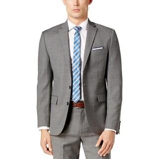 Ryan Seacrest Mens Two-Button Blazer Modern Fit Professional