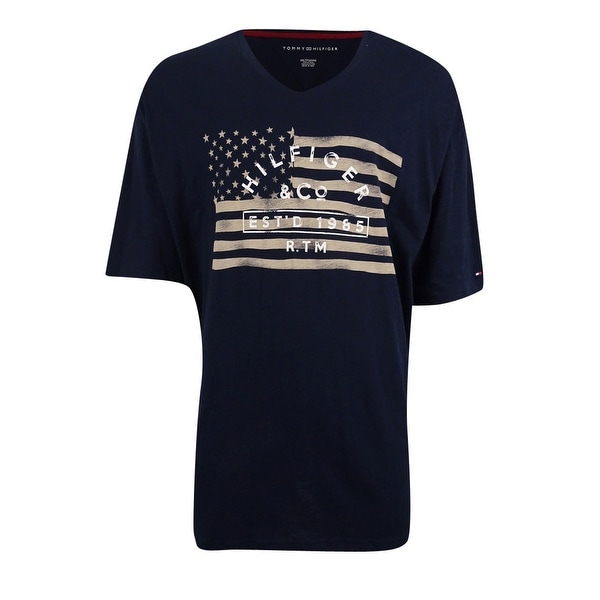 e7723845e ... Shirts; /; Men's T-Shirts. Tommy Hilfiger Men's Thunder Boost  Graphic-Print V-Neck T