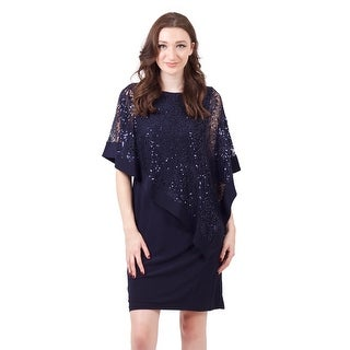 Sequin Overlay Jersey Shift