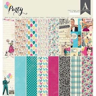 "Party; 8 Designs/3 Each - Authentique Double-Sided Cardstock Pad 12""X12"" 24/Pkg"