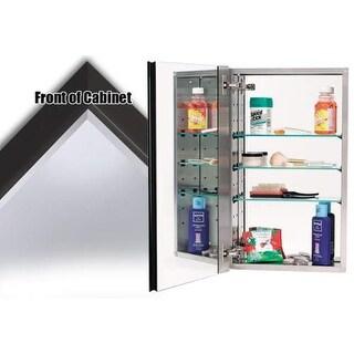 "Alno MC40244 4000 Series 15"" x 25"" Single Door Recessed Medicine Cabinet with St"
