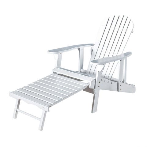 Hayle Wood Outdoor Reclining Adirondack Chair by Christopher Knight Home