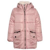 Urban Republic Little Girls Dusty Rose Zipper Closure Hooded Puffer Jacket