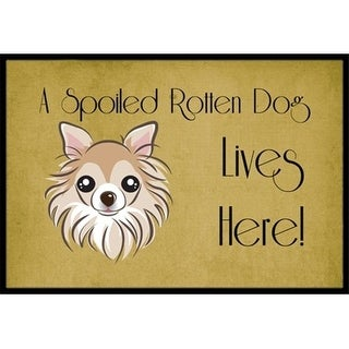 Carolines Treasures BB1499MAT Chihuahua Spoiled Dog Lives Here Indoor & Outdoor Mat 18 x 27 in.
