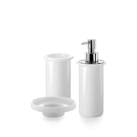 WS Bath Collections Saon 5500 Complements Tumbler, Soap Dish, and Soap